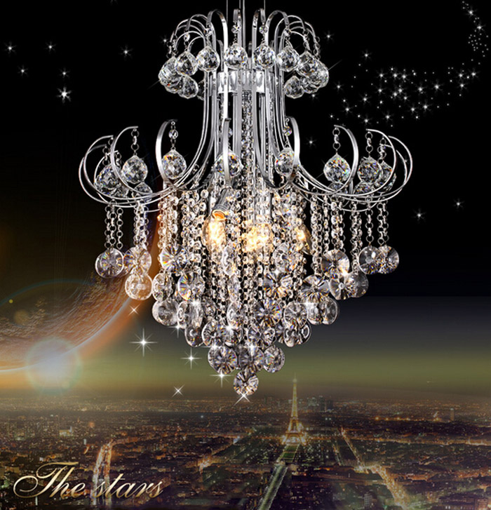 modern led Crystal chandelier modern simple living room lights restaurant lights double staircase lamps crystal lighting