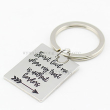 """Hand Stamped """"Spirit lead me where my trust is without borders""""necklace"""