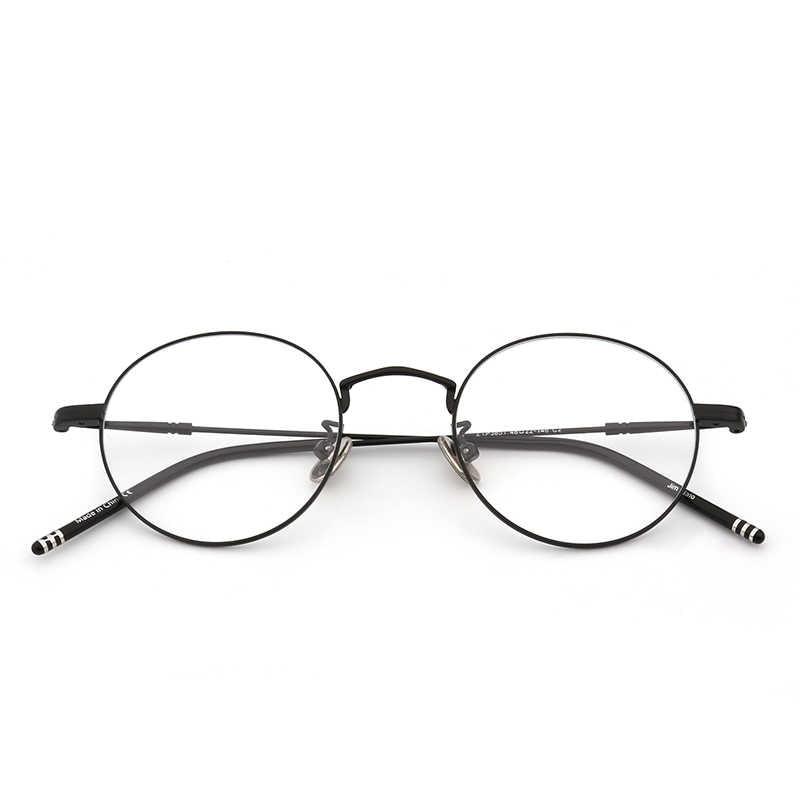 6e68eb2faf9 ... JIM HALO Round Wire Rim Glasses Circle Frame Clear Lens Eyeglasses  Optical Eyewear Women Men ...