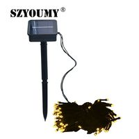 SZYOUMY 10 Sets 10M Solar String Lights 100 LED String Garlands Lamps Solar Holiday Waterproof Garden