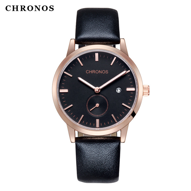 9a5b30d317f Men Watches Top Brand CHRONOS Luxury Men Quartz Watch Casual Sport Datejust Watches  Male Leather Clock Hodinky Relogio Masculino