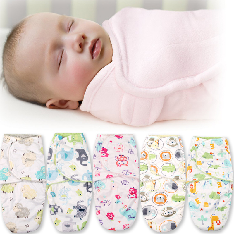 baby Swaddle baby sleeping bag double layer fleece infant parisarc baby wrap envelope swaddling Sleep bag Sleepsack