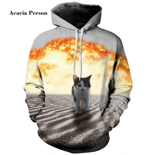 0a19bd0c0188 Drop shipping Fashion 3D Galaxy hoodies print hemp tiger cat jacket  men women Harajuku sweatshirt casual Graphics pullover hoody