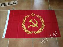 90*150 cm Bandera de la Unión Soviética URSS CCCP Comunismo Guerra Fría Rojo Comunista Banderas Y Pancartas Para/Victoria día de envío gratis