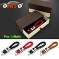 Metal Auto Key Holder Woven belt Ring Car Key Chain Q50/Q60/Q70//QX70 /QX50