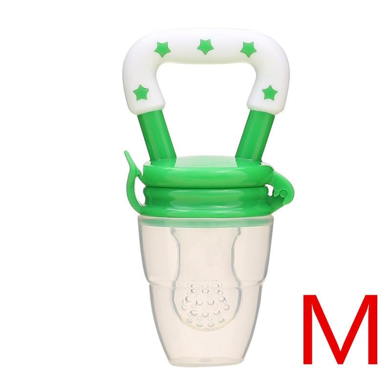 Детская соска для свежего питания, соска для кормления детей, соска для кормления фруктов, безопасные соска, бутылочки - Цвет: greenM
