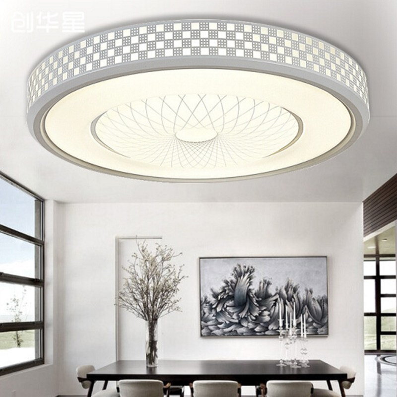 Led Ceiling Light Modern Panel Lamp Lighting Fixture Living Room Bedroom Kitchen Surface Mount Flush Remote Control Strong Resistance To Heat And Hard Wearing Ceiling Lights & Fans