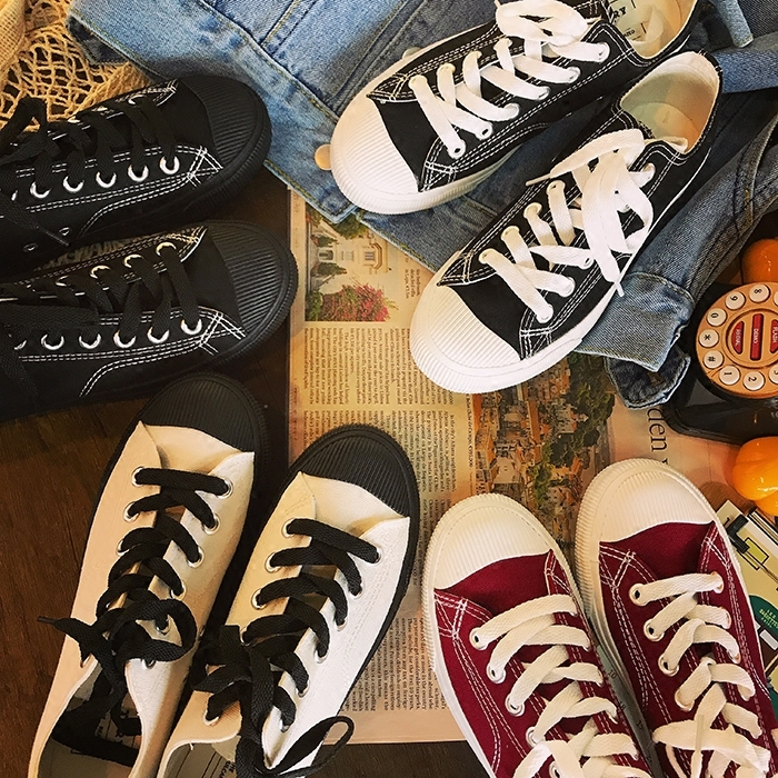 QWEDF Canvas sneakers New style retro-fashionable and women's leisure <font><b>shoes</b></font> in spring and summer of 2019 Simple sneakers N3-58 image