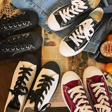 QWEDF Canvas sneakers New style retro-fashionable and women'