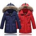2016 Niños Chaquetas Parka Bebé prendas de Vestir Exteriores childen invierno chaquetas para Niños chaquetas Abrigos Niños calientes del bebé de algodón gruesa abajo