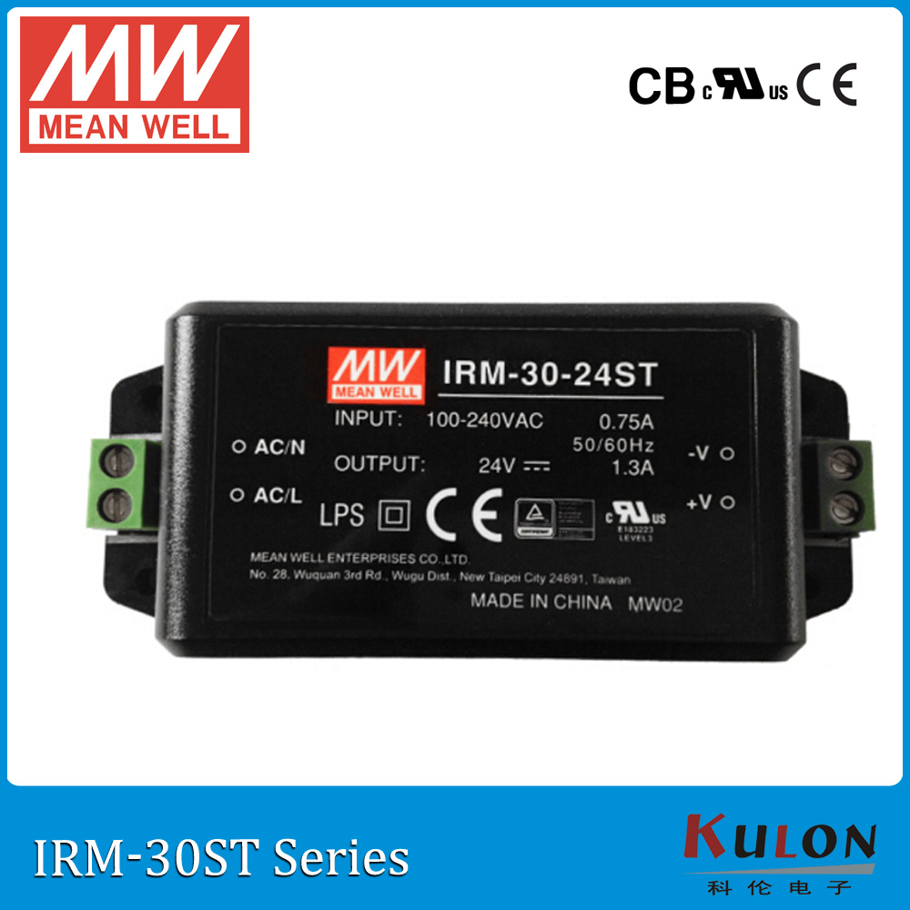 Original MEAN WELL IRM-30-5ST single output 6A 5V 30W screw teriminal meanwell power supply IRM-30