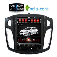 Vertical Huge screen Android Car DVD Player GPS Nav multimedia for Ford Focus 2 Din 2012 2013 2014 2015 RDS Radio Audio Stereo
