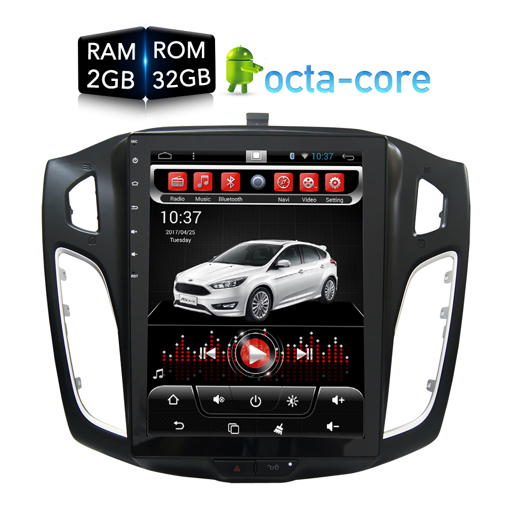 10.4'Vertical Huge screen Android Car DVD Player GPS Nav multimedia for Ford Focus 2012 2013 2014 2015 RDS Radio Audio Stereo