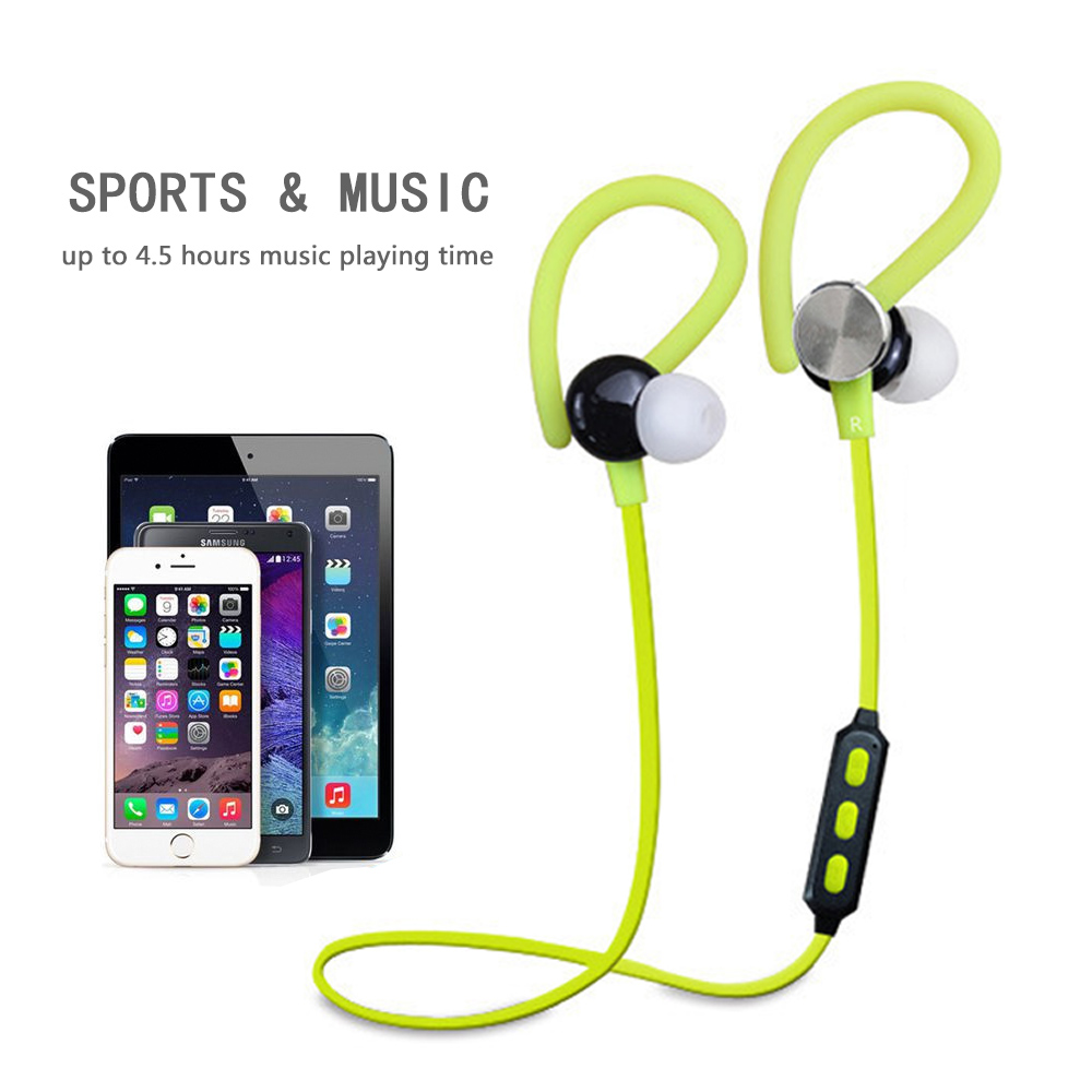 Wireless Bluetooth Earphones Runner Sweatproof Headset Sport Earbuds with Mic and Headphones Noise Cancelling For xiaomi 100% original bluetooth headset wireless headphones with mic for blackview bv6000 earbuds
