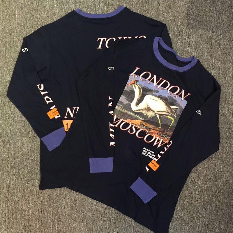 145f472b4b1 Подробнее Обратная связь Вопросы о Heron Престон одежда с длинным рукавом  футболки Для мужчин Для женщин 1 1 уличная heron Престон футболка 18ss London  в ...