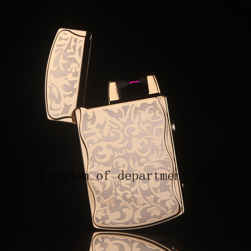 Windproof Ultra Thin Metal Pulse Charge Usb Lighter font b Electronic b font font b Cigarette