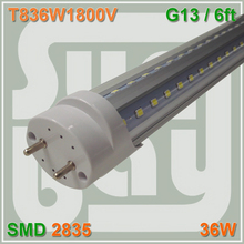 Free Shipping V-shaped T8 LED Tube bulb light 6ft 36W 1.8M G13 work with existing fixture 85-277V 270 angle double sides SMD2835