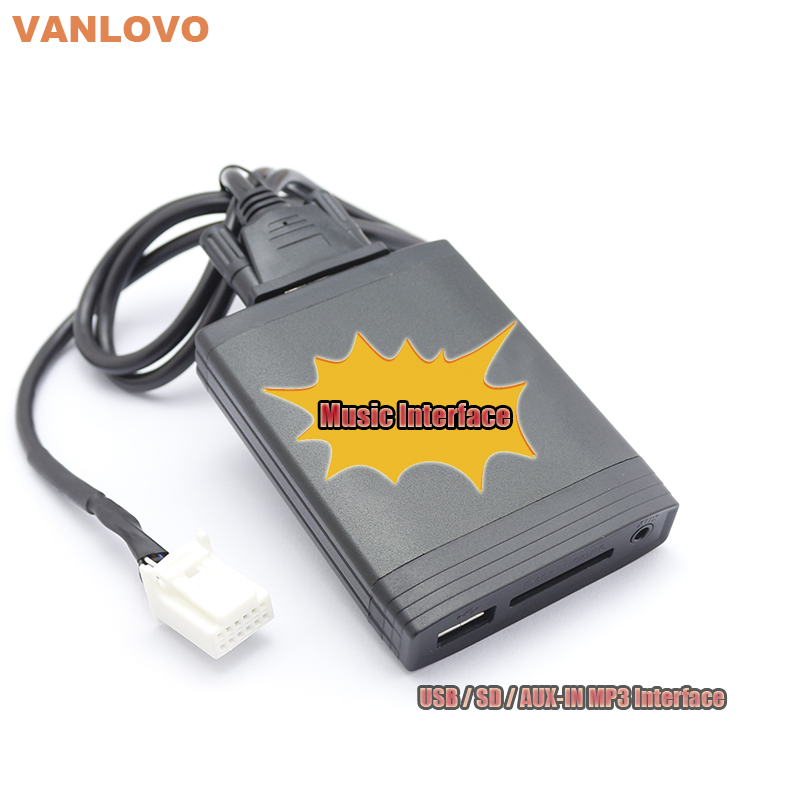 Music Interface USB SD Aux-in MP3 Player Adapter for TOYOTA 4Runner Avalon Avensis Camry Corolla Verso FJ Crusier Fortuner Hiace yatour car adapter aux mp3 sd usb music cd changer 6 6pin connector for toyota corolla fj crusier fortuner hiace radios