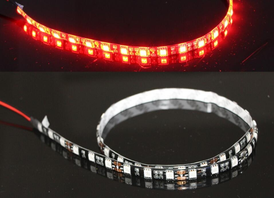 120cm LED Daytime Running lights DRL 100% Waterproof 36SMD 5050 Car Auto Decorative Flexible LED Strip x 100pcs