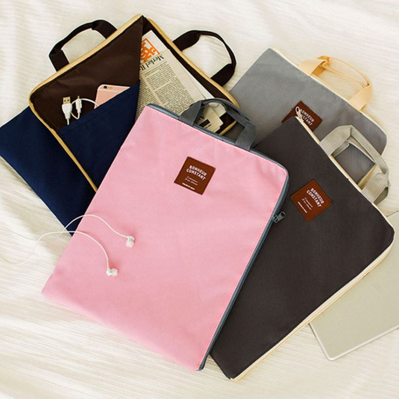 Coloffice Bag Laptop-Bag File-Products Paper Exam Canvas Zipper Oxford A4 School Briefcase