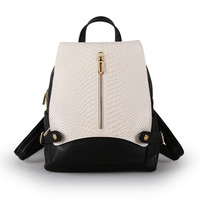 Nesitu Good Quality New Fashion Black Blue Silvery White Genuine Leather Women's Backpack Girl Lady Female Travel Bags M9009