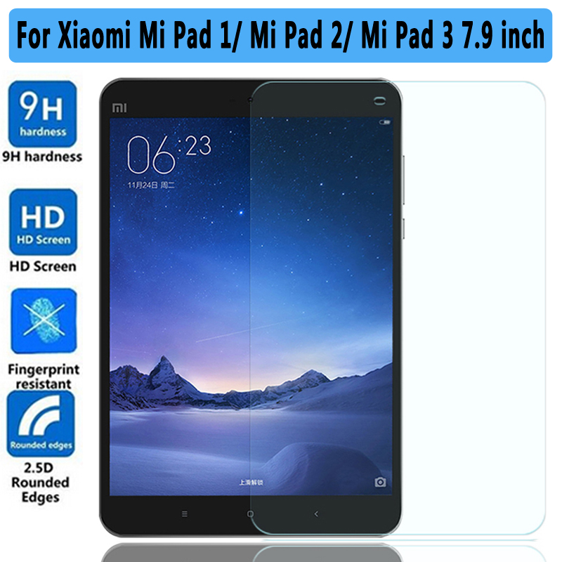 100% High Quality 9H Tempered Glass for Xiaomi Mi Pad 1 2 3 Screen Protector For Xiaomi Mi Pad 3 2 1 7.9 inch Tempered Glass защитные стекла liberty project защитное стекло lp для nokia 630 tempered glass 0 33 мм 9h ударопрочное