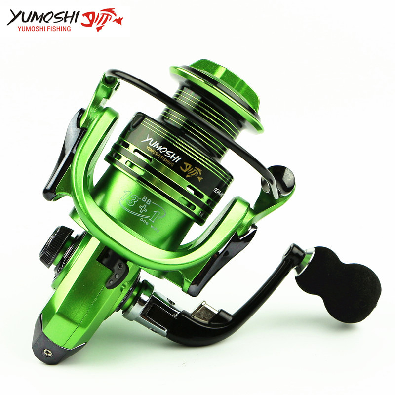 All-metal Arm 13+1BB Spinning Fishing Reels EVA Handle Fishing Reels 3 colors 1000-7000 Series Gapless Metal Head Spinning Wheel