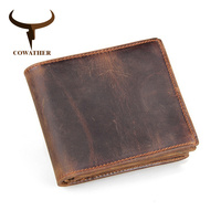 100 Top Quality Cow Genuine Leather Men Wallets Luxury Dollar Price Short Style Male Purse Carteira