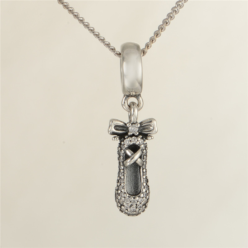 Ballet Charm Bracelet: Fits Silver Charms Bracelet & Necklace 100% 925 Sterling