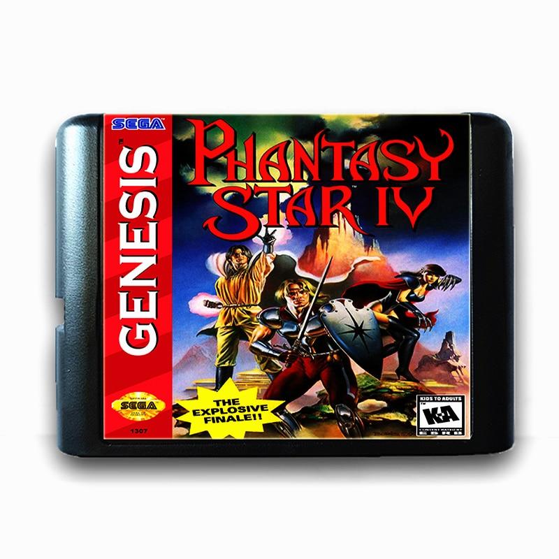 Phantasy Star 4 for 16 bit Sega MD Game Card for Mega Drive for Genesis Video Game Console PAL USA JAP