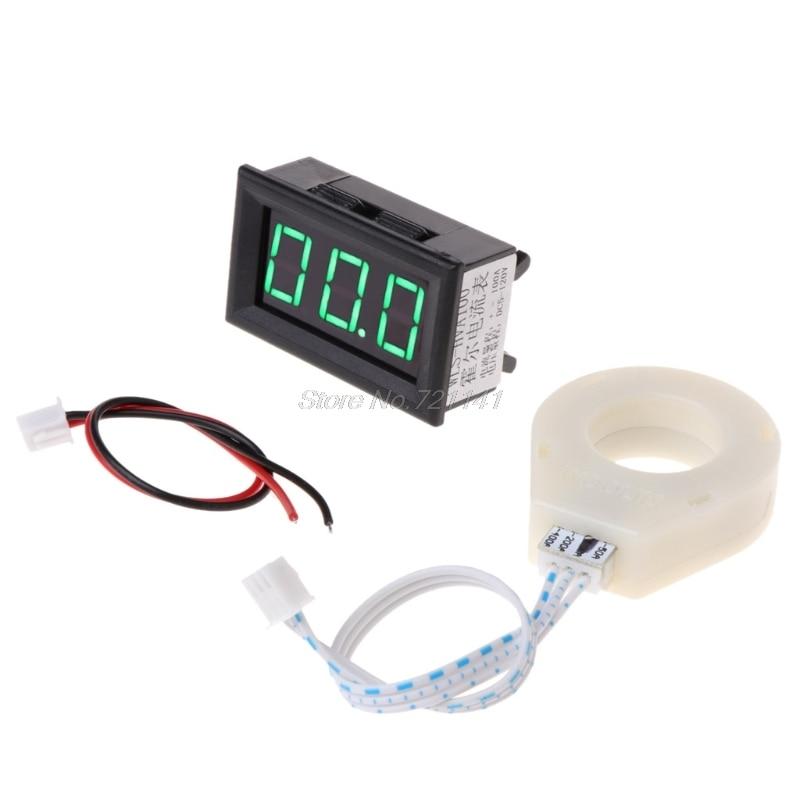Dc 5-120 v 100a voltímetro digital medidor de tensão atual amp com sensor de efeito hall