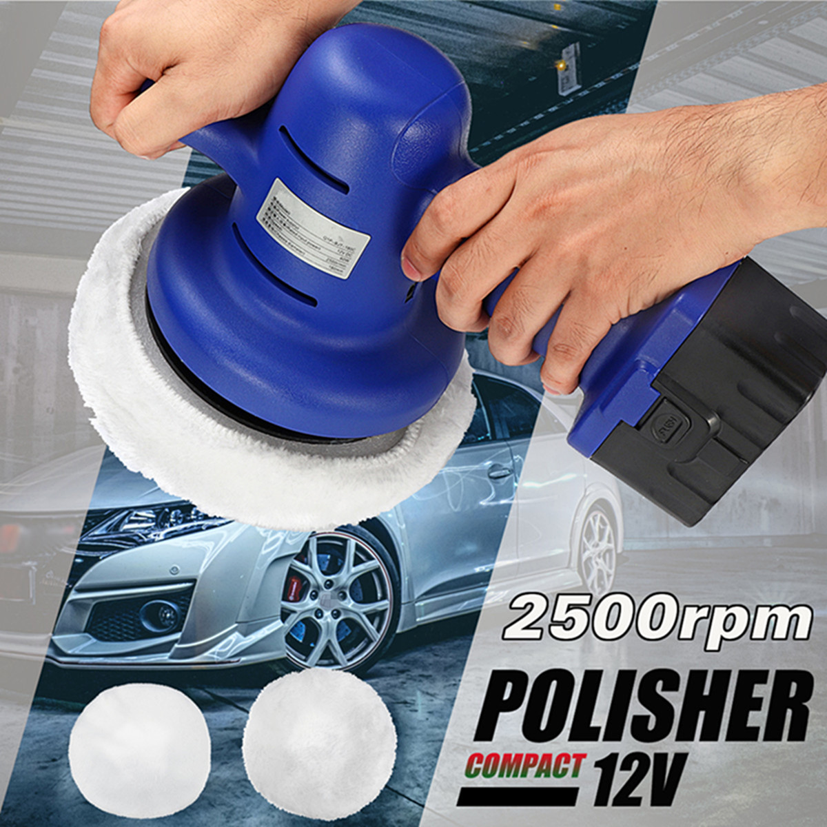 цена на Portable Cordless Car Polisher Cleaner Polish Machine Waxing Machine With 12V Lithium Battery For Car Trucks