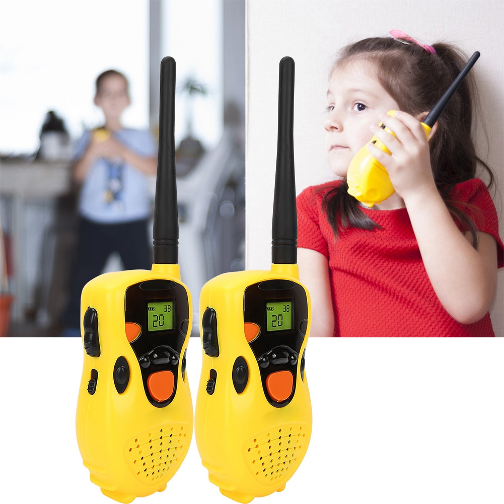 2pcs Mini Walkie Talkie Kids Radio Station Puseky 80-100M Portable Radio Communicator Gift Radio Station Handheld Radio Gift