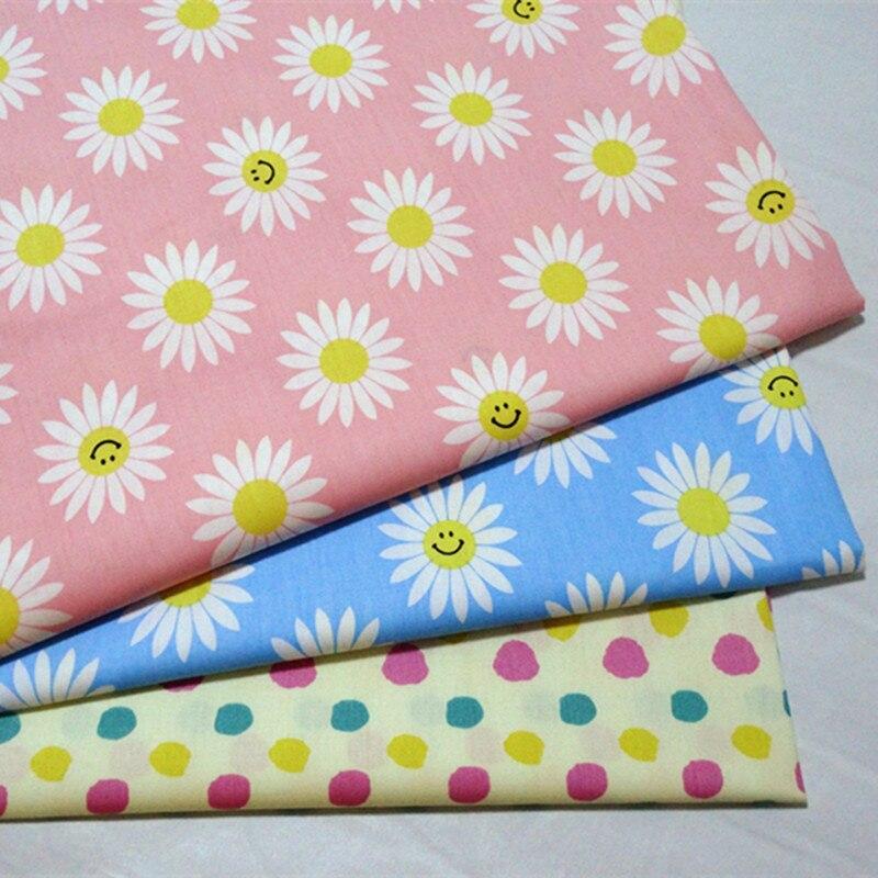160 см x 100 милые 100% хлопок Цветочный принт ткани дети хлопка Одежда шитье и метр