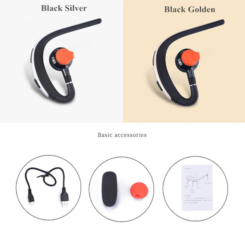 Voice control Bluetooth headset Noise cancelling isolation wireless earphone with microphone handsfree sports music headphone (4)