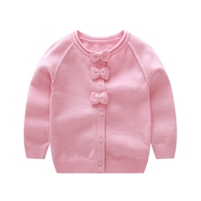 Vinnytido Girls Sweaters 2017 Winter Children Outerwear Bow Cardigans For
