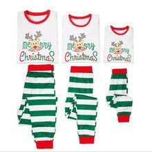 Family Matching Merry Christmas Pajama Set Mother Daughter Father Son Parent-Child Kid Xmas Clothes 90012