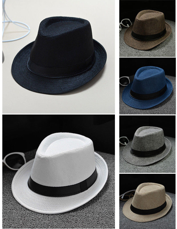 Hat Panama Straw Fedora Trilby Cap Foldable Travel Brim Wide Mens Ladies Summer