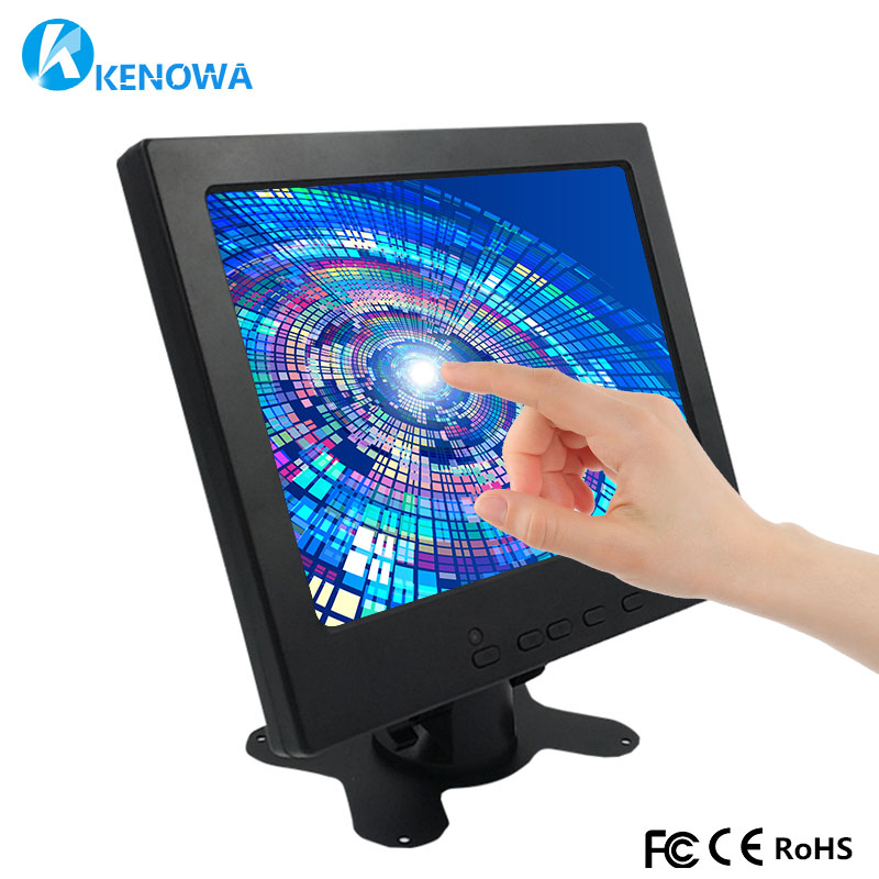 8 Inch 1024*768 IPS Industrial LCD Capactive Touch monitor HDMI HD AV VGA Input Screen Computer Monitor PC Display for Raspberry monitor benq 23 8 gw2406z black computer display