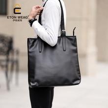 ETONWEAG New 2017 women brands Italian leather black zipper big capacity luxury handbags fashion shopping bag laptop tote