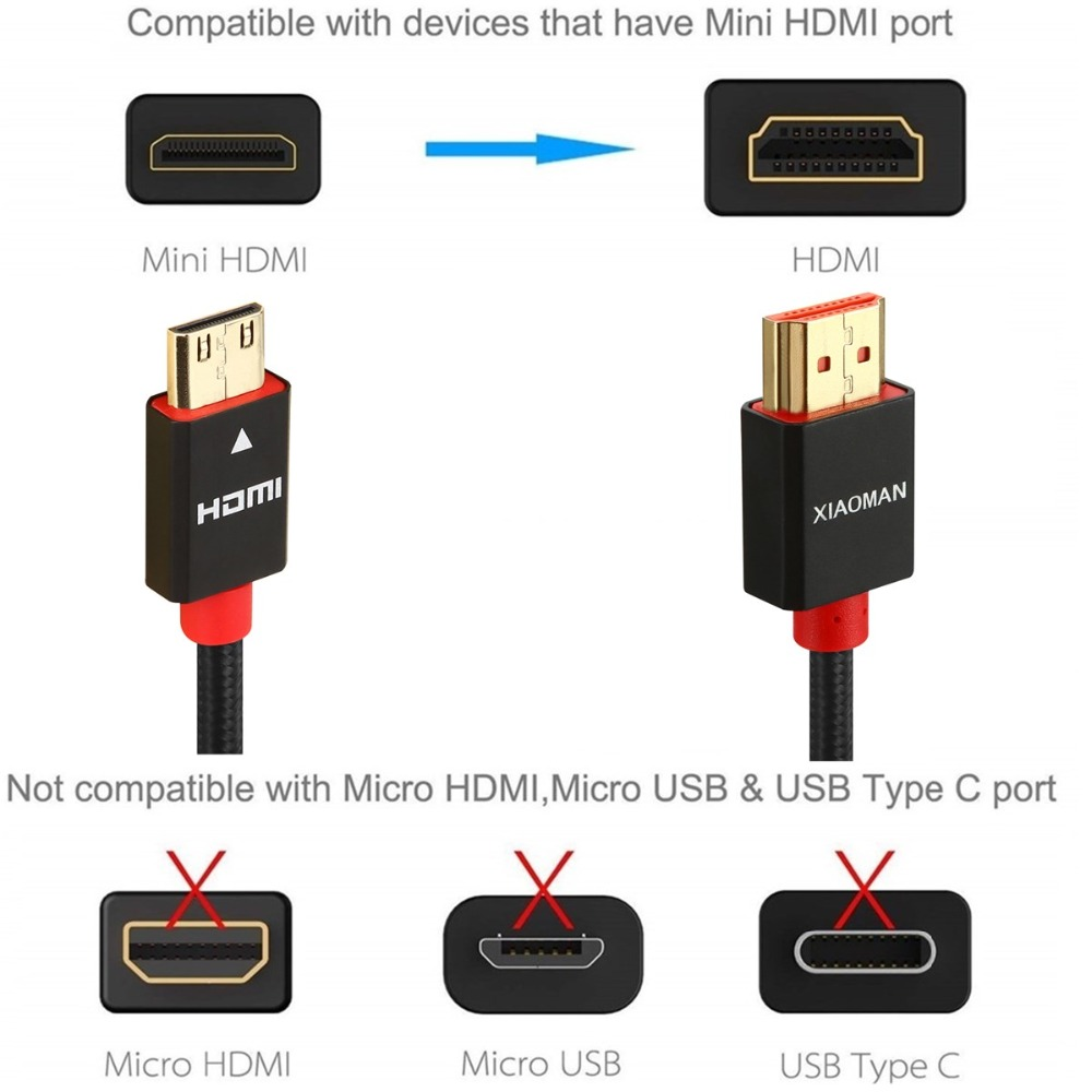 Mini HDMI to HDMI Cable (5)
