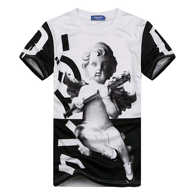 2015 New Man Fashion Design T Shirt Little Fashion Angel Statue Men S Top Tees Men Casual T Shirt Paintting Fitness Clothing T Shirts Aliexpress
