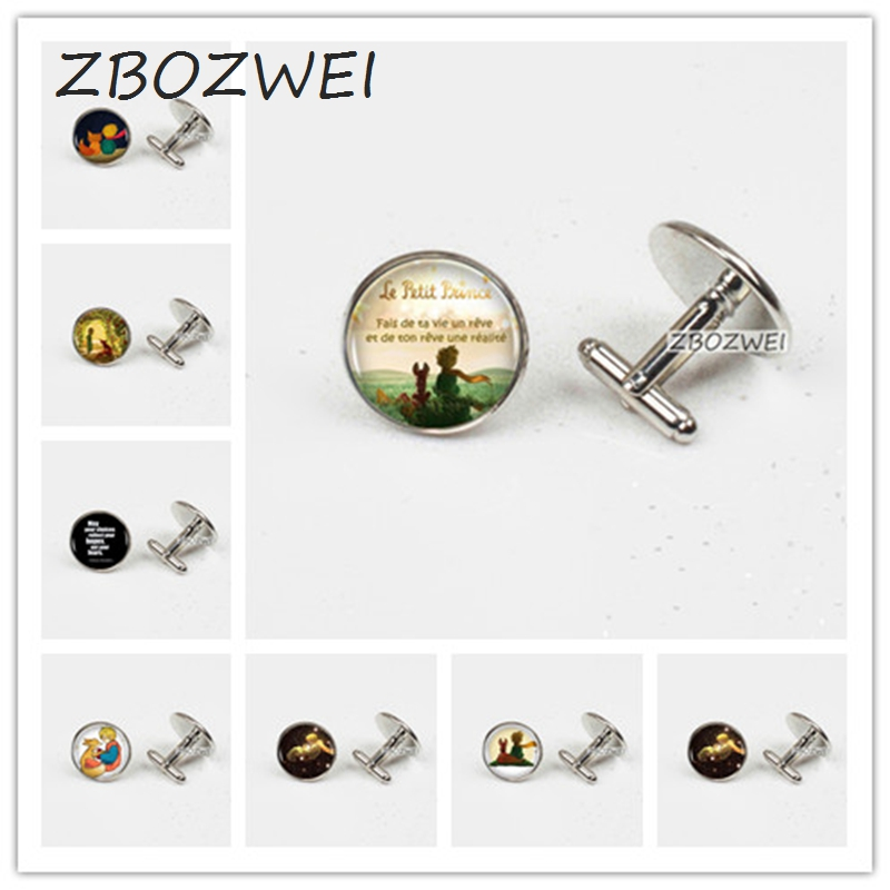 ZBOZWEI 2018 Wholesale The Little Prince Logo Copper Women Cufflinks Statement Cufflinks For Men Dress Accessories Gift