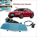 "For Audi A6 Car DVR Rearview mirror video recorder Car DVR Dual Camera FHD 1080P Novatek 96655 WDR 5"" IPS Screen Car Black box"