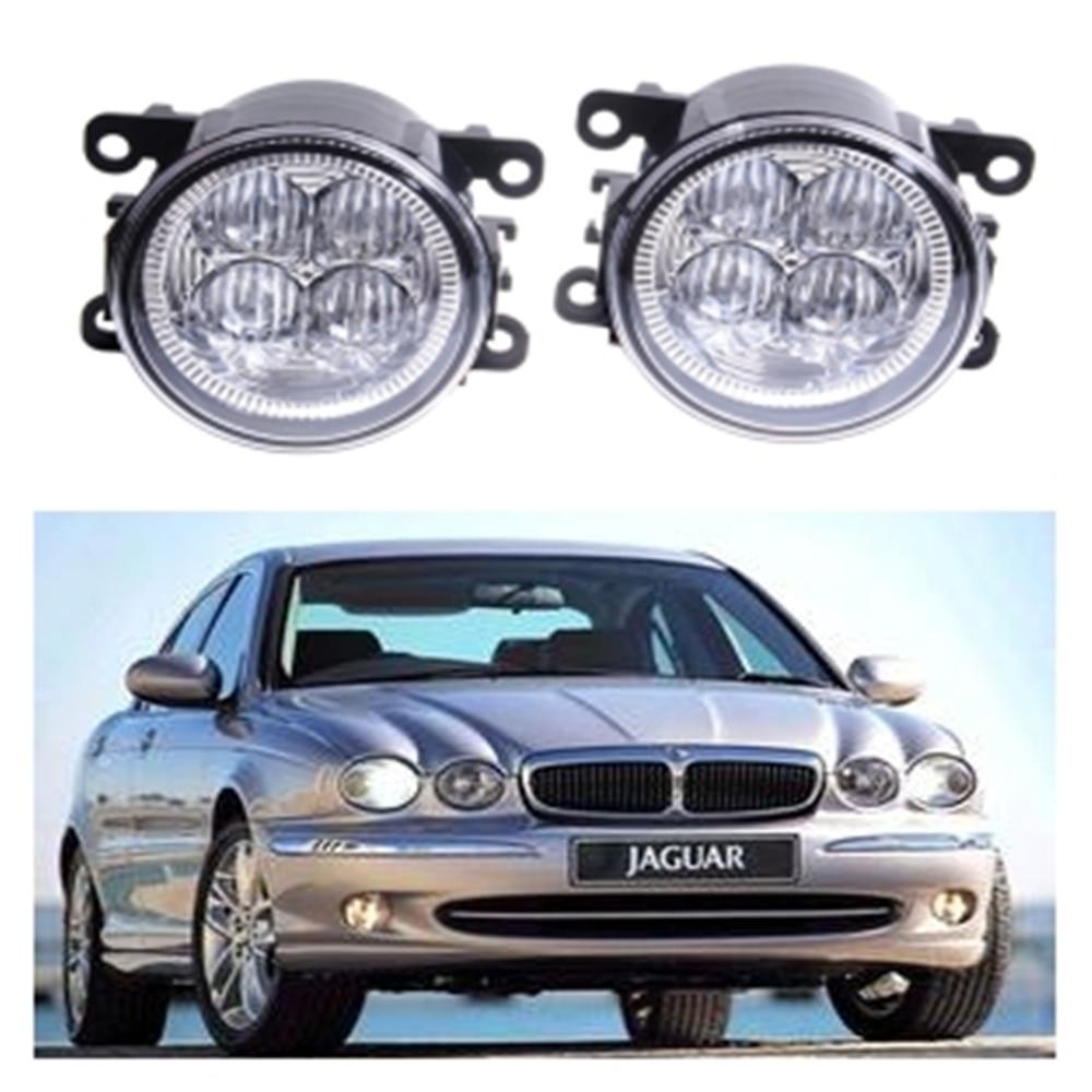 For JAGUAR X-TYPE Estate 2003-2009 10W High power lens set light LED Fog Lights Car Styling fog lamps купить jaguar x type бу