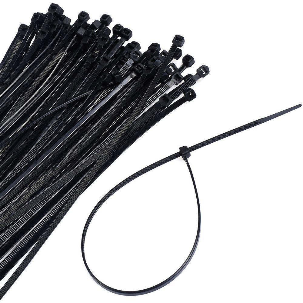 100pcs Self-locking Releasable Black White Network Nylon Plastic Cable Wire Zip Tie Cord Strap Wiring Tools Fast Color