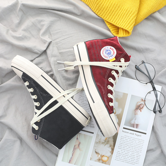 Women's 캐주얼 canvas sneakers in winter 숙 녀 Warm Boots Solid 솜 털 Lace Up Boots Round Toe 신발쏙 ~ special style