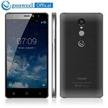 Vente! Gooweel M17 4G Smartphone D'empreintes Digitales ID MTK6737 Quad core 5.5 pouces HD IPS Android 6.0 téléphone portable 1 GB + 16 GB 8MP mobile téléphone