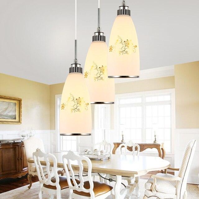 Moderno Lámparas colgantes cristal LED lámpara colgante para cocina ...