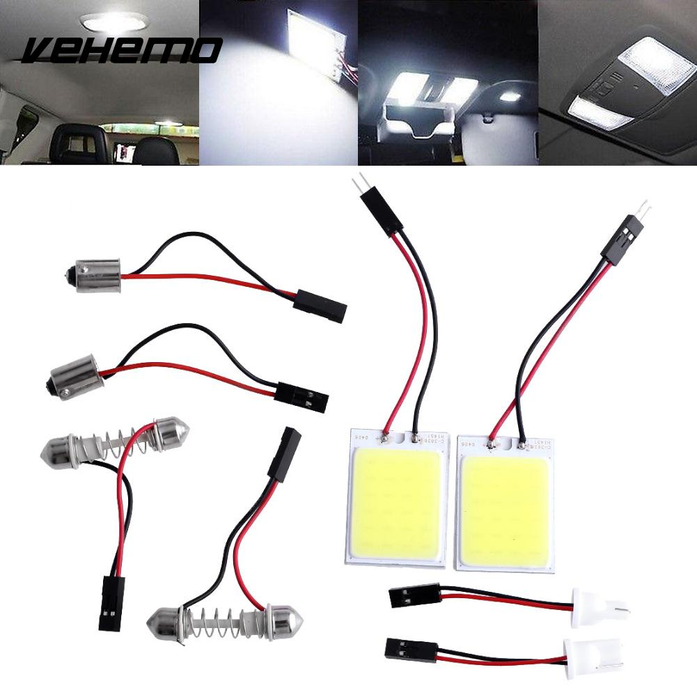 2pcs HID Saving Bright 24 COB LED Panel Light Practical For Car Auto Interior Door Trunk Dome Reading White Lamp Car Accessories car rear trunk security shield cargo cover for volkswagen vw tiguan 2016 2017 2018 high qualit black beige auto accessories